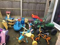 Kids scooters , 3 wheeler bikes, tractor etc. Ideal for nursery/ childminder or will sell seperately