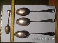 Job lot mixed EPNS? spoons, 7 dessert, 9 tea