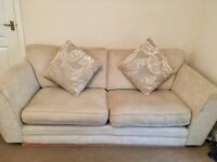 DFS Cream 3 seater sofa and snuggle chair