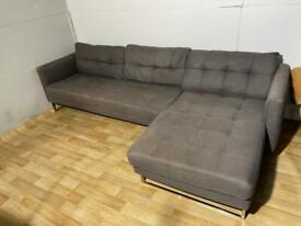 Delivery Available - Grey Dwell Corner Sofa