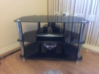 Black chrome TV stand