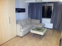 Shalands studio flat in exellent condition large living room with fold up bed, kitchen and bathroom