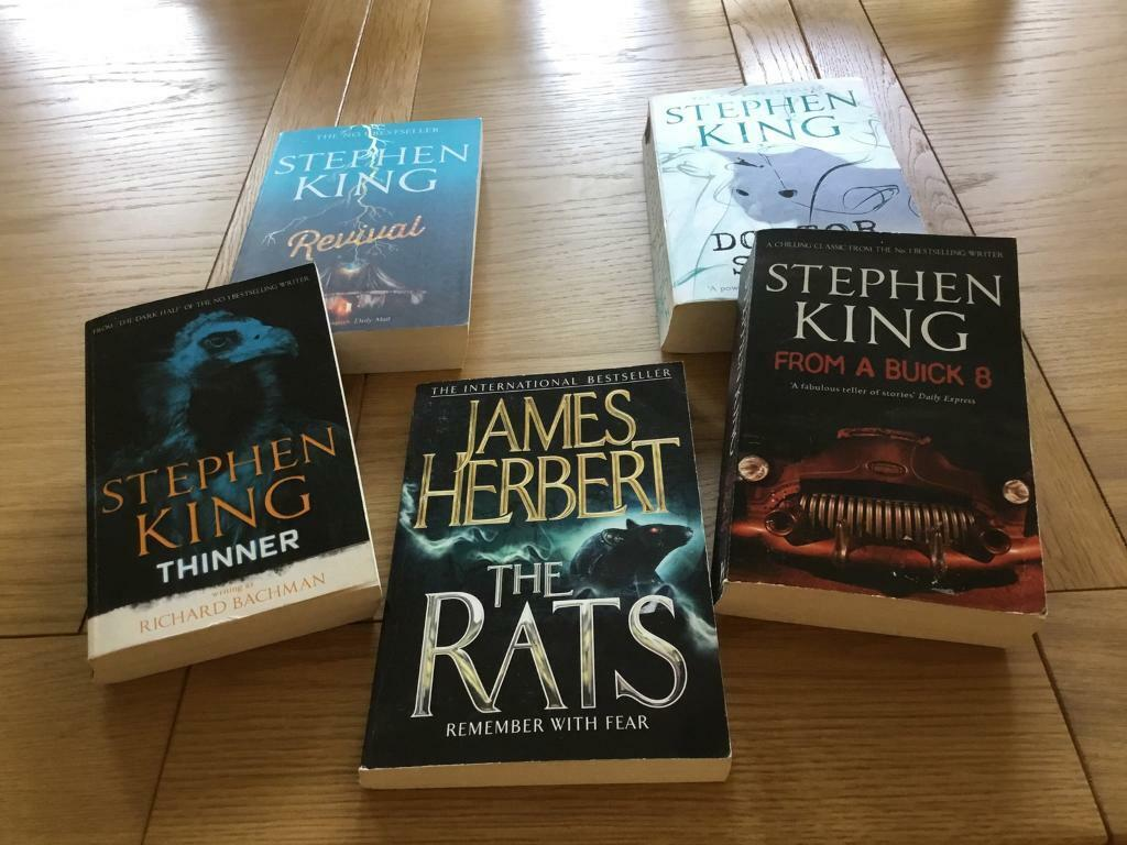 5 horror books from 2 best selling authors STEPHEN KING/JAMES HERBERT  A  gripping read  £5 the set  | in North Shields, Tyne and Wear | Gumtree