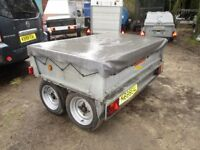 VERY RARE BATESON 2000KG GALVANISED & BRAKED TWIN AXLE GOODS TRAILER...