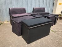 Modular CUBE Restaurant Club Bench Cafe Bar with storage - fire certificates