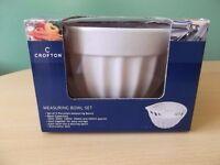 Crofton Set of 5 Porcelain Measuring Bowls NEW aldi, baking, bakeware, cookware, kitchen accessories