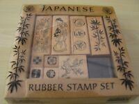 Japanese Rubber Stamp Set