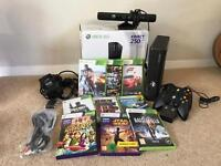 Xbox 360 250GB with 2 controllers Kinect 9 Games