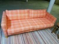 Sofa - Quality Extra Comfy 3 Seater Orange Fabric Sofa