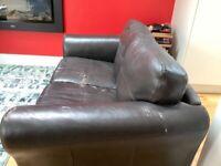 Black 2 seater sofa