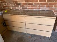 IKEA Malm Bedroom Furniture - White Oak