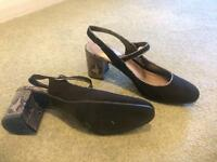 Ladies M&S black shoes