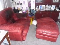 Sofa arm chair and footstool
