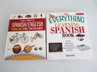 *~*~* Spanish English Visual Dictionary and Everything Learning Spanish Book with CD *~*~*