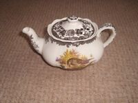 Palissy Game Series Crockery. Over eighty various items including teapot, coffee pot, plates etc.