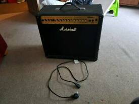 Marshall speaker and fortissimo electric guitar