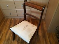 6 dining chairs in very good condition. One of the chairs is a carver chair. Buyer collects.