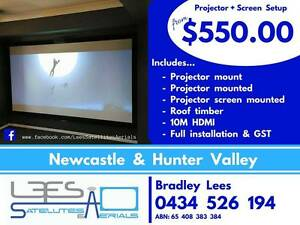 Projector + Screen Setup $550.00 Charlestown Lake Macquarie Area Preview