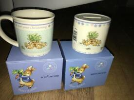 Wedgwood peter rabbit christening gift