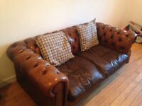 Chesterfield sofas vintage x 2 (3+2 seater sofa)