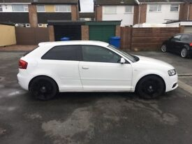 2009 Audi A3 s line white 2.0 tdi black edition 165000 miles
