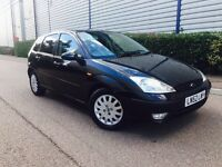 2002/52 FORD FOCUS GHIA DIESEL BLACK + 1 PREVIOUS OWNER + MOT + SERVICE HISTORY + HPI CLEAR