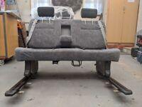 Sliding 3 Seat Camper Van Triple Bench VW T4 T5 Caddy Transit. Belts Bed Table