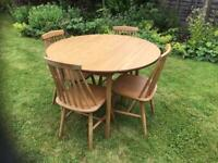 Dinette Round Kitchen Table and 4 Chairs