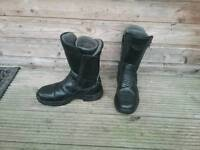 Motorbike boots, jacket and trousers