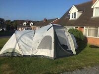 LARGE 6 MAN 2 BEDROOM TENT WITH PIRCH COST 600