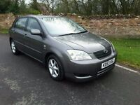 TOYOTA COROLLA D 4 D 2003/53 MOT UNTIL NOVEMBER, 126,556 MILES, SERVICE HISTORY. EXCEPTIONALLY CLEAN
