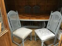 Reduced for quick sale space needed Shabby chic dining table and 4 chairs