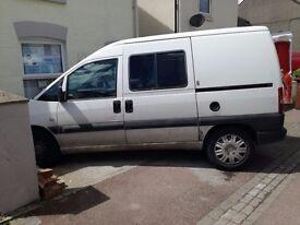 Peugeot Expert van 2005 MOT'd til Aug. Twin doors. 140k miles