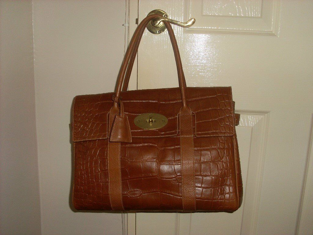 Genuine Mulberry Bayswater Oak Croc As New (unused). Somerset £650.00 71f3623b94e92