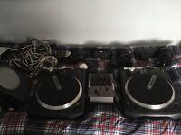 Numark TT1650 direct drive decks and M1i mixer