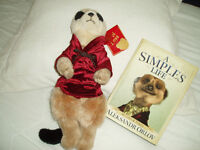 Meerkat plush toy and Book