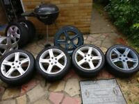 9 pieces of alloy wheels 215/45/R17 , 195/55/R15