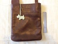 Radley brown cross-body textured leather handbag