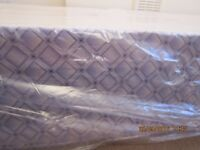 BRAND NEW IN WRAPPING SINGLE DIVAN BED BASE (blue patterned sides)