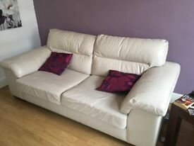 Leather settee and chair. From a smoke and animal free home