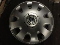 Single Genuine VW 15'' Wheel Trim to fit Golf Passat Polo Jetta Caddy Lupo etc.