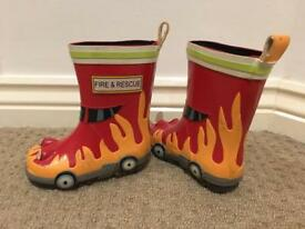 Fire & Rescue Red Toddler - Size 4 Wellington/Wellie Boota