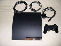PS3 Slim Console 160GB and 65 games