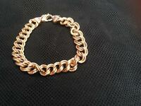 Gents/Ladies Beautiful 9CT Double Link Bracelet.