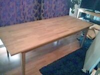 Very large solid beech dining table