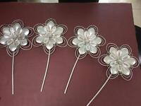4 next metal flower wall plaques