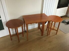 Teak nest of tables. Stylish and compact. Very good condition.
