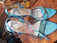 Light blue high heel size 7