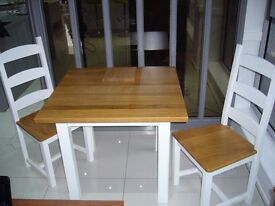 Burbidge Solid Oak Table with two Chairs