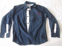 Dark blue cotton shirt, age 6